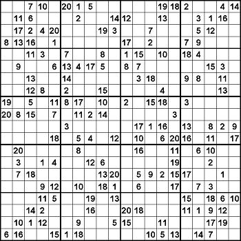 Sudoku Download 25x25 Sudoku Puzzles